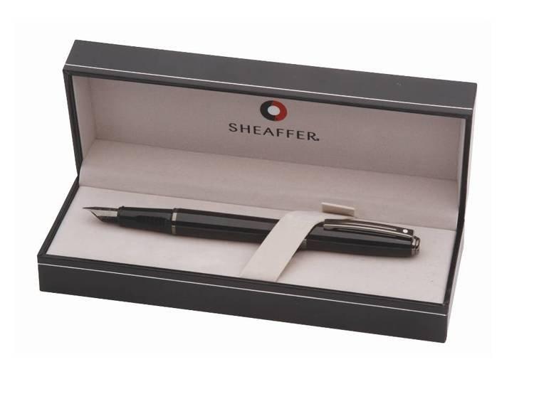 9144 PN Pióro wieczne Sheaffer Prelude, czarne, wykończenia w kolorze czarnym