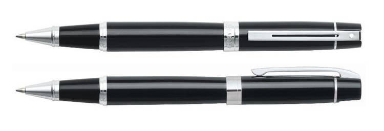 9312 RB Pióro kulkowe Sheaffer kolekcja 300, czarne, wykończenia chromowane