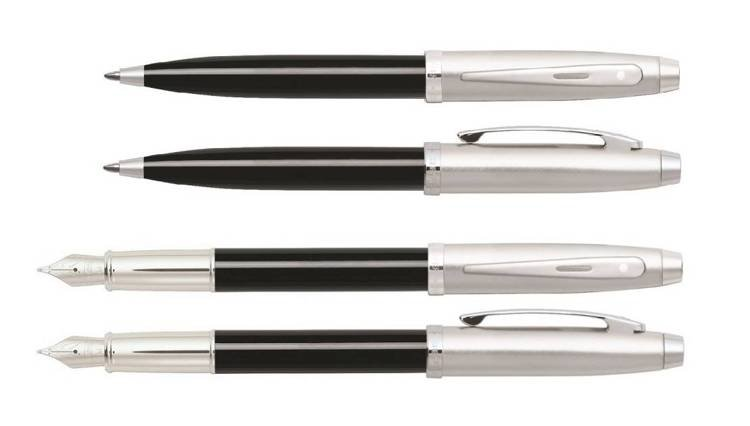 9313 Zestaw (pióro wieczne i długopis) Sheaffer kolekcja 100, czarne, wykończenia chromowane