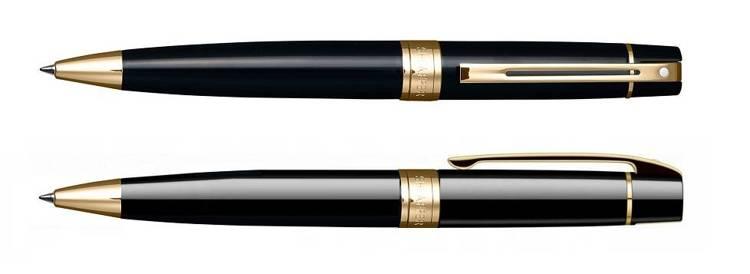 9325 BP Długopis Sheaffer kolekcja 300, czarny, wykończenia w kolorze złotym