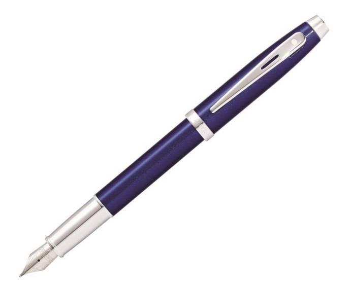 9339 PN Pióro wieczne Sheaffer kolekcja 100, niebieskie, wykończenia chromowane
