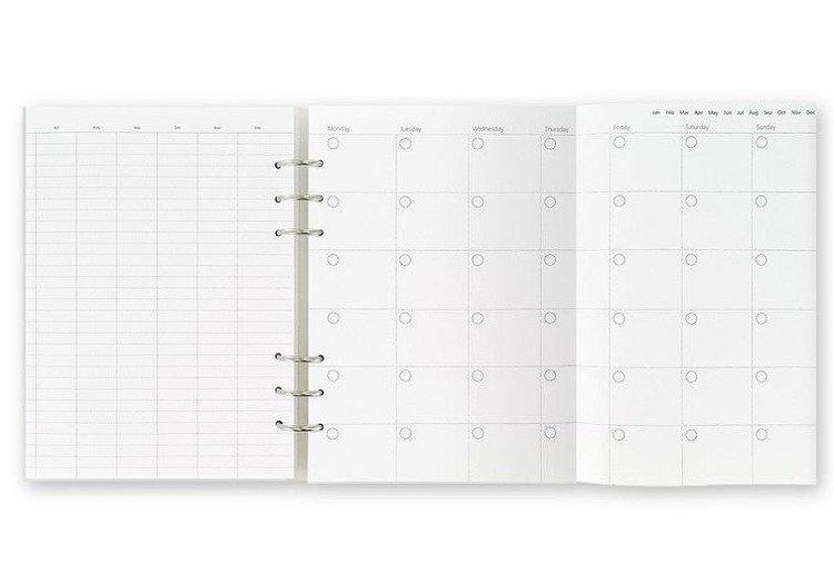 Clipbook fILOFAX CLASSIC A5, notatnik i terminarze bez dat, biała okładka