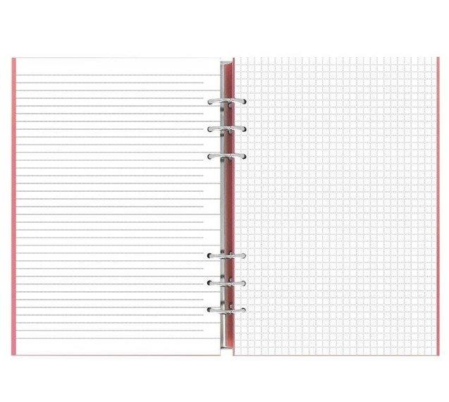 Clipbook fILOFAX CLASSIC A5, notatnik i terminarze bez dat, okładka w kolorze pastelowym różowym