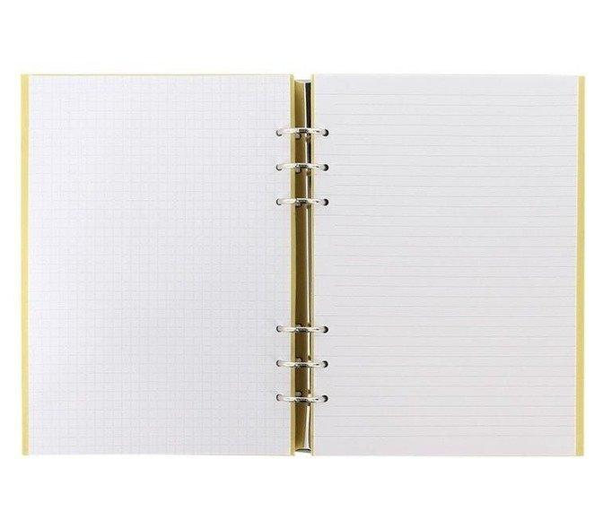 Clipbook fILOFAX CLASSIC A5, notatnik i terminarze bez dat, okładka w kolorze pastelowym żółtym