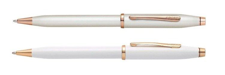 Długopis Cross Century II biały, elementy pokryte różowym złotem
