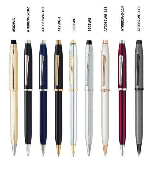 Długopis Cross Century II czarne, elementy pokryte 23k złotem