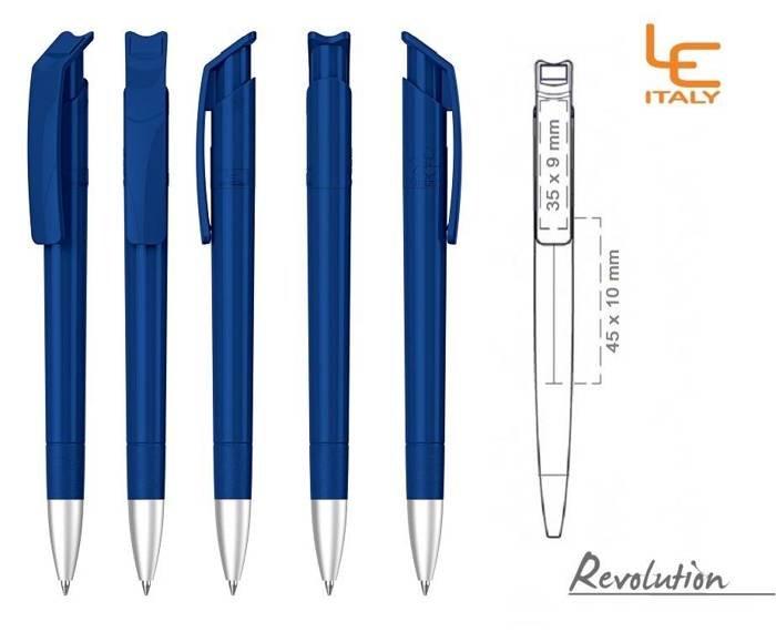 Długopis LE ITALY Revolution solid ALrPET ciemnoniebieski