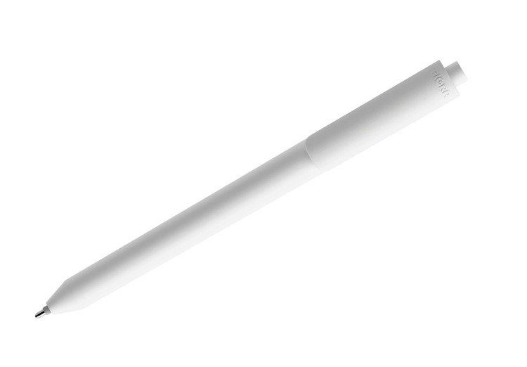 Długopis PIGRA P03, biały z białym klipsem