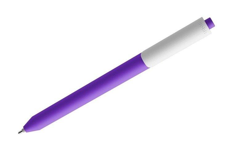 Długopis PIGRA P03, fioletowy z białym klipsem