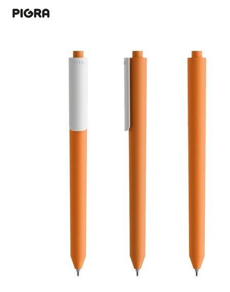Długopis PIGRA P03, pomarańczowy z białym klipsem