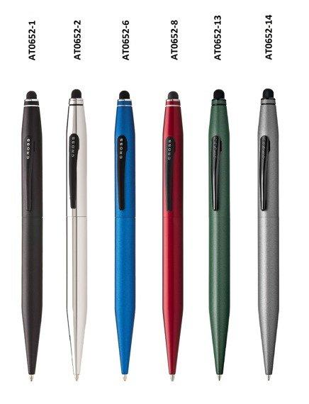 Długopis ze stylusem Cross Tech2 czarny, elementy czarne