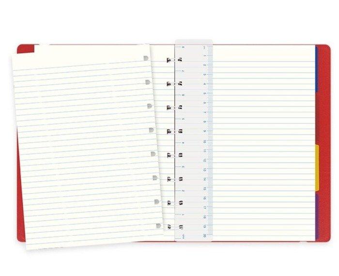 Notebook fILOFAX CLASSIC A5 blok w linie, czerwony