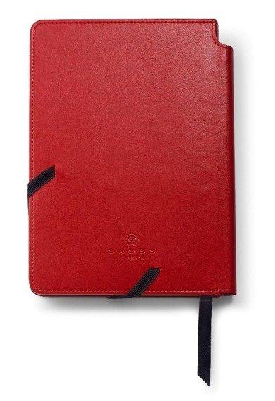 Notes Cross Journals czerwony średni, A5, blok w linie