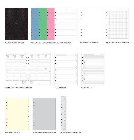 Organizer fILOFAX Domino Soft A5, jasnozielony