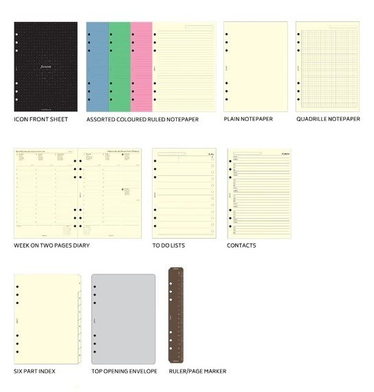 Organizer fILOFAX The ORIGINAL A5, skóra naturalna w kolorze ciemnoniebieskim