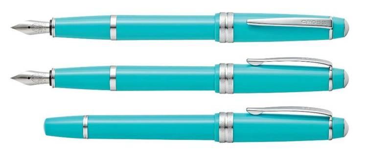 Pióro wieczne Cross Bailey Light błękitne, elementy chromowane