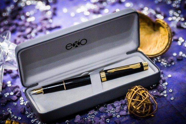 Pióro wieczne EXO Sagitta, czarny, wykończenia złote