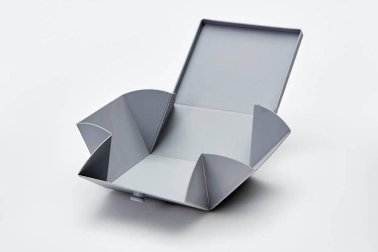 Uhmm Box 02 pudełko na żywność, jasnoszare