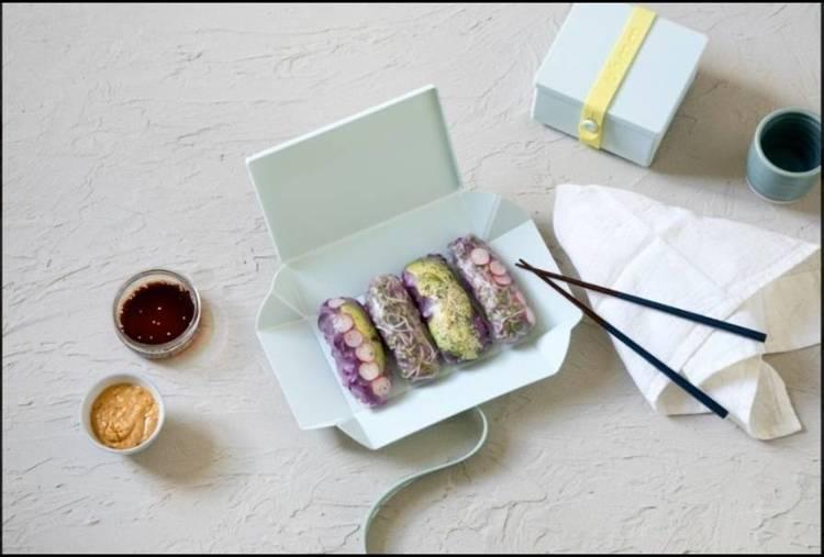 Uhmm Box 01 Prostokątne pudełko na żywność, miętowe