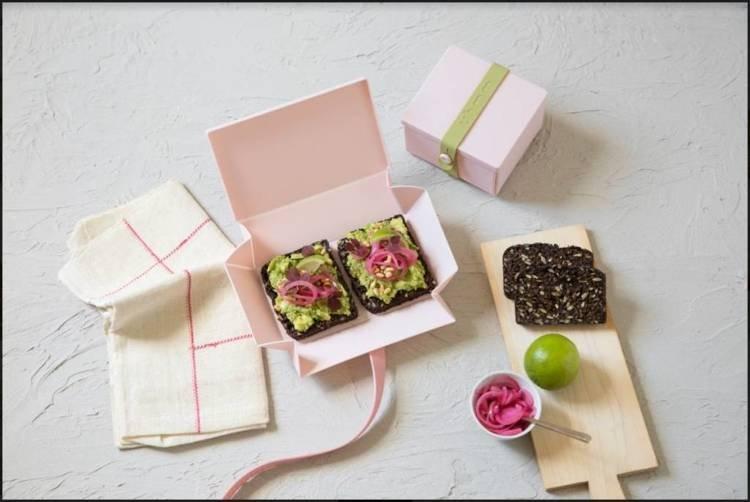 Uhmm Box 02 pudełko na żywność, różowe